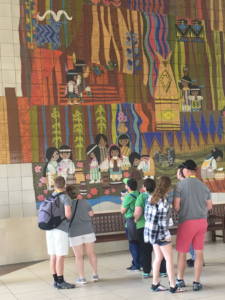 Teams hard at work on the Contemporary Resort mural
